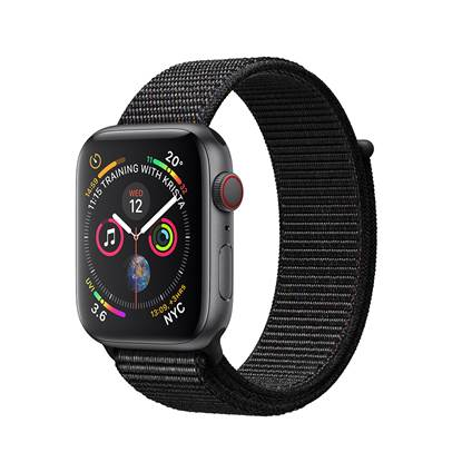 Apple Watch Series 4 GPS 44mm Space Grey Aluminium Case with Sport Loop - Black EU
