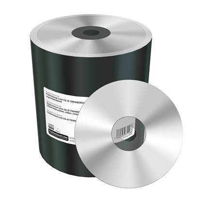 MediaRange Professional Line CD-R 700MB|80min 52x speed, offset printable, silver, unprinted/blank, Shrink 100 (MRPL518-C)