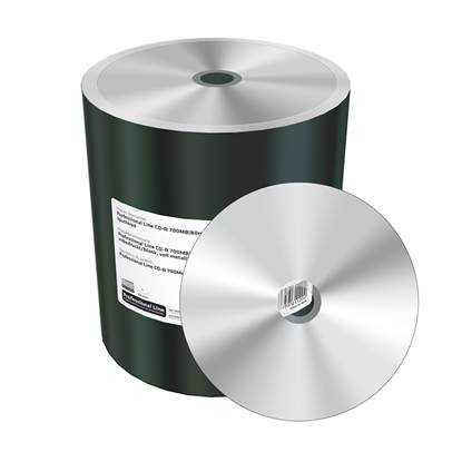 MediaRange Professional Line CD-R 700MB|80min 52x speed, silver, unprinted/blank, wide sputtered, Shrink 100 (MRPL508-M)