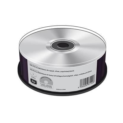 MediaRange DVD+R Double Layer 8.5GB|240min 8x speed, silver, unprinted/blank, Cake 25 (MR476)