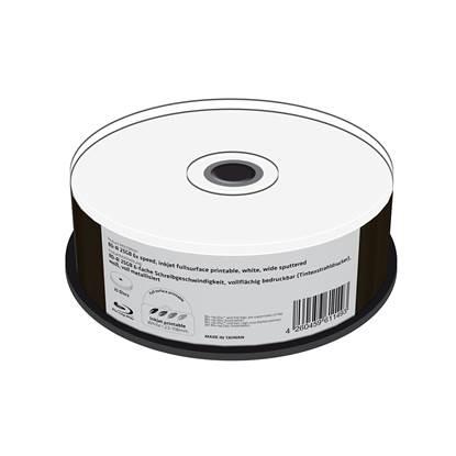 MediaRange BD-R 25GB 6x speed, inkjet fullsurface printable, wide sputtered, Cake 25 (MR512)