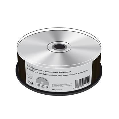 MediaRange BD-R 25GB 6x speed, silver, unprinted/blank, wide sputtered, Cake 25 (MR513)