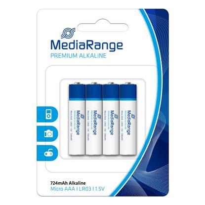 Αλκαλική Μπαταρία MediaRange Premium AAA 1.5V (LR3) (4 Pack) (MRBAT101)