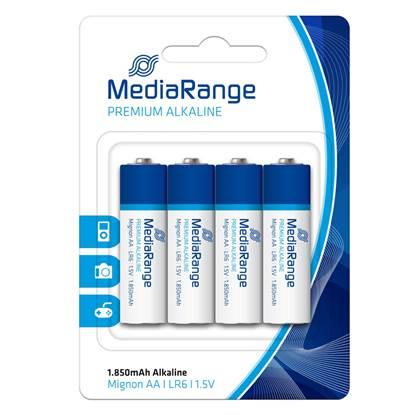 Αλκαλική Μπαταρία MediaRange Premium AA 1.5V (LR6) (4 Pack) (MRBAT104)