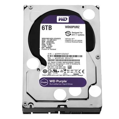 "Western Digital Εσωτερικός Σκληρός Δίσκος 6 TB (Purple 3.5"") (WD60PURZ)"