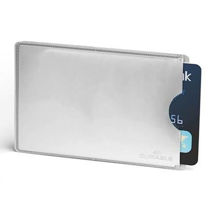 Θήκη Προστασίας Καρτών για 1 Κάρτα DURABLE RFID Ασημί (DRB8900)