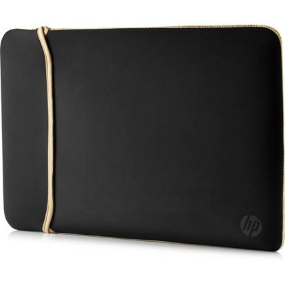 HP 15.6 Neoprene Reversible Sleeve (Black/Gold)