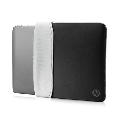 HP 15.6 Neoprene Reversible Sleeve (Black/Silver)