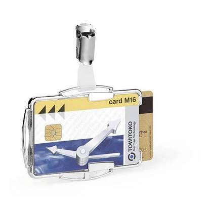 Θήκη Προστασίας Καρτών για 1 Κάρτα DURABLE RFID με Κλίπ Διάφανο (DRB8901)