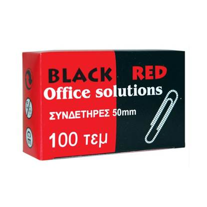 Συνδετήρες BLACK-RED No 5 Κατσαροί (100 Τεμάχια) (BR314515)