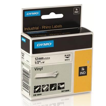 Ταινία Ετικετογράφου DYMO Vinyl Ribbon 18444 (Μαύρα Γράμματα σε Λευκό Φόντο) (S0718600) (DYMO18444)