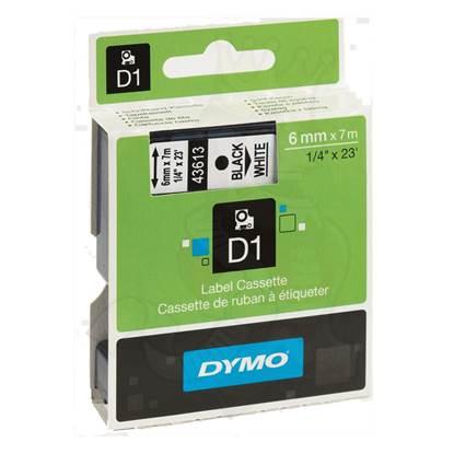 Ταινία Ετικετογράφου DYMO D1 (Μαύρα Γράμματα σε Λευκό Φόντο) (S0720780) (DYMO43613)