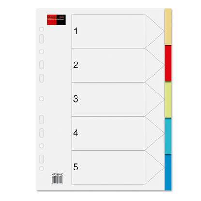 Διαχωριστικά Πλαστικά A4 5 Θεμάτων BLACK RED Χρωματιστά (BR158105)