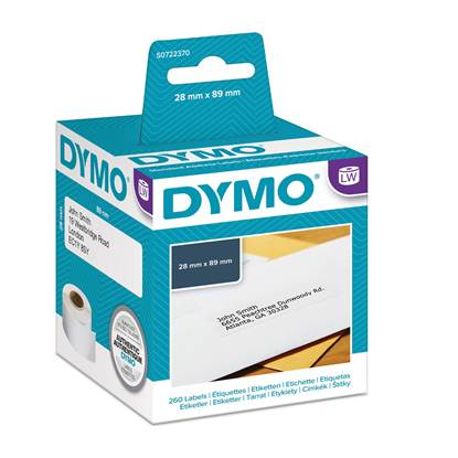 Ετικέτες Ταχυδρομικών Αποστολών DYMO Address Labels 99010 28 x 89 mm (Λευκές) ((DYMO99010)