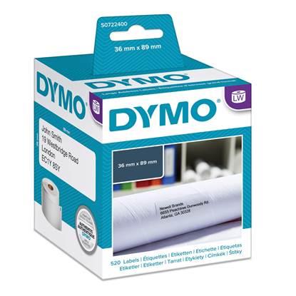 Χάρτινη Ετικέτα DYMO 99012 89x36mm (Λευκή) (2 Ρολά) (DYMO99012-2)