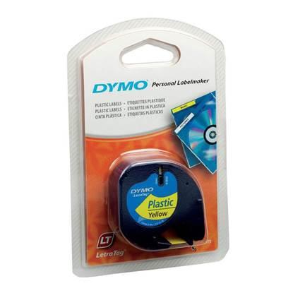 Πλαστική Ταινία Ετικετογράφου DYMO 12X4mm (Κίτρινη) (S0721620) (DYMO91202)