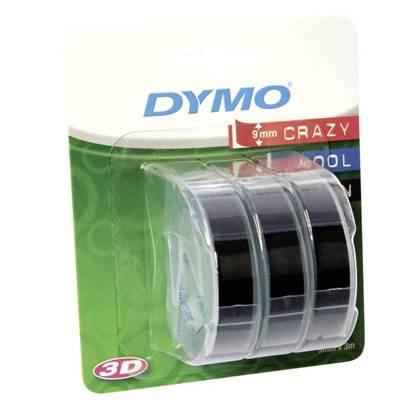 Ταινία Ετικετογράφου DYMO Stamping (Λευκά Γράμματα σε Μαύρο Φόντο) (S0847730) (DYMOS0847730)