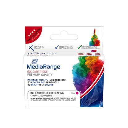 Inkjet MEDIARANGE Συμβατό για Εκτυπωτές Canon (Magenta) (CLI-521M) (MRCC521M)