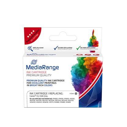 Inkjet MEDIARANGE Συμβατό για Εκτυπωτές Canon (Grey) (CLI-526G) (MRCC526GY)