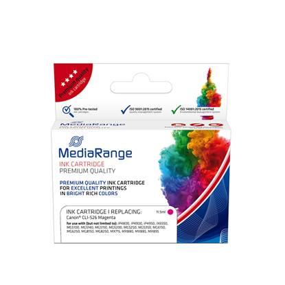 Inkjet MEDIARANGE Συμβατό για Εκτυπωτές Canon (Magenta) (CLI-526M) (MRCC526M)