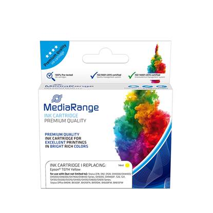 Inkjet MEDIARANGE Συμβατό για Εκτυπωτές Epson (Yellow) (T0714) (MRET071Y)