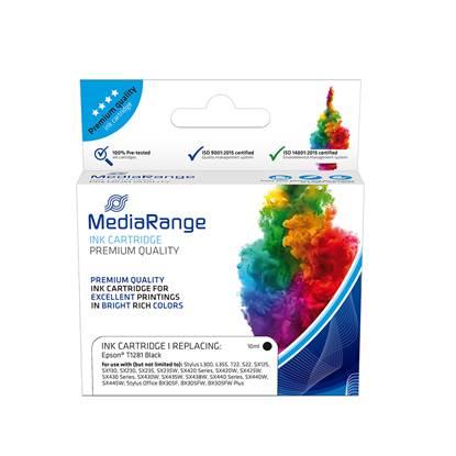 Inkjet MEDIARANGE Συμβατό για Εκτυπωτές Epson (Black) (T1281) (MRET128BK)