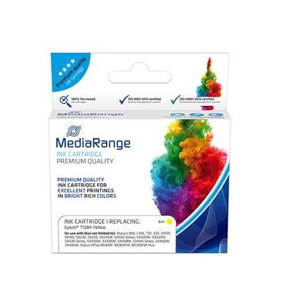 Inkjet MEDIARANGE Συμβατό για Εκτυπωτές Epson (Yellow) (T1284) (MRET128Y)
