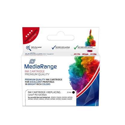 Inkjet MEDIARANGE Συμβατό για Εκτυπωτές Canon (Black) (PGI-520BK) (MRCP520BK)