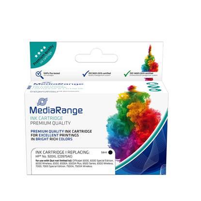 Inkjet MEDIARANGE Συμβατό για Εκτυπωτές HP (Black) (No.920XL) (CD975AE) (MRHP920BKXL)