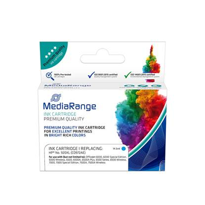 Inkjet MEDIARANGE Συμβατό για Εκτυπωτές HP (Cyan) (No.920XL) (CD972AE) (MRHP920CXL)