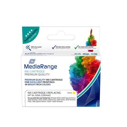 Inkjet MEDIARANGE Συμβατό για Εκτυπωτές HP (Yellow) (No.920XL) (CD974AE) (MRHP920YXL)