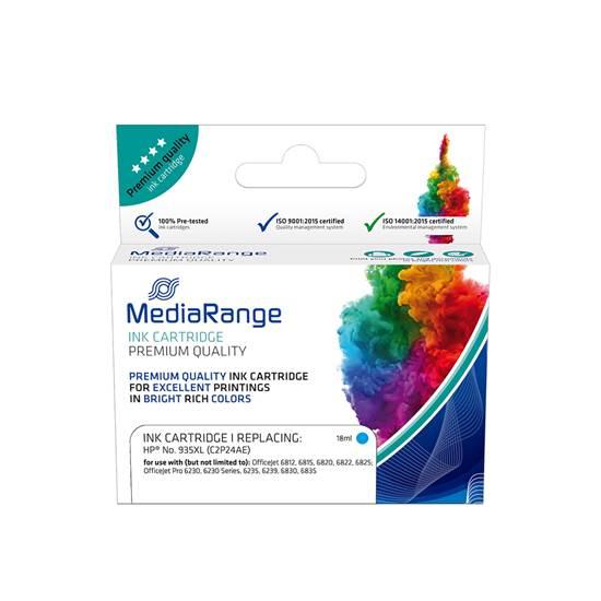 Inkjet MEDIARANGE Συμβατό για Εκτυπωτές HP (Cyan) (No.935XL) (C2P24AE) (MRHP935CXL)