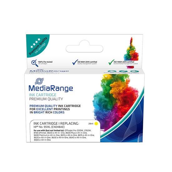 Inkjet MEDIARANGE Συμβατό για Εκτυπωτές HP (Yellow) (No.951XL) (CN048AE) (MRHP951YXL)