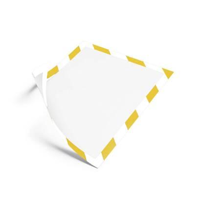 Θήκη Πληροφόρησης Αυτοκόλλητη A4 DURAFRAME DURABLE Ασφαλείας Διπλής όψης Σέτ 2 Τεμαχίων Κίτρινο/Λευκό (DRB4944Y)
