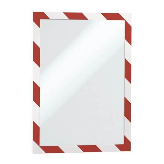 Θήκη Πληροφόρησης Αυτοκόλλητη A4 DURAFRAME DURABLE Ασφαλείας Διπλής όψης Σέτ 2 Τεμαχίων Κόκκινο/Λευκό (DRB4944R)