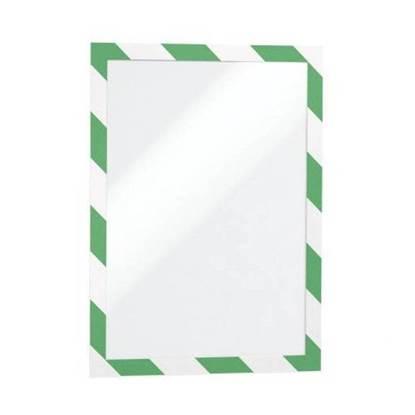 Θήκη Πληροφόρησης Αυτοκόλλητη A4 DURAFRAME DURABLE Ασφαλείας Διπλής όψης Σέτ 2 Τεμαχίων Πράσινο/Λευκό (DRB4944GRN)