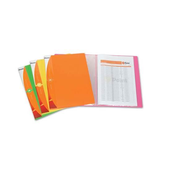 Ντοσιέ/Σούπλ με 20 Ζελατίνες POINT (Πορτοκαλί) (POIPF10820OR)