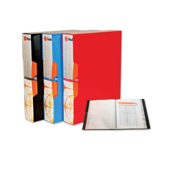 Ντοσιέ/Σούπλ με 100 Ζελατίνες Office POINT (Κόκκινο) (POIPF10901R)