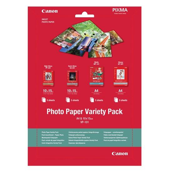 Φωτογραφικό Χαρτί A4 Variety Pack Canon VP-101 10x15cm