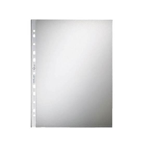 Ζελατίνες LEITZ Ενισχυμένες με Τρύπες Άνοιγμα Πάνω 0.06mm (100τμχ) (LEI428654)