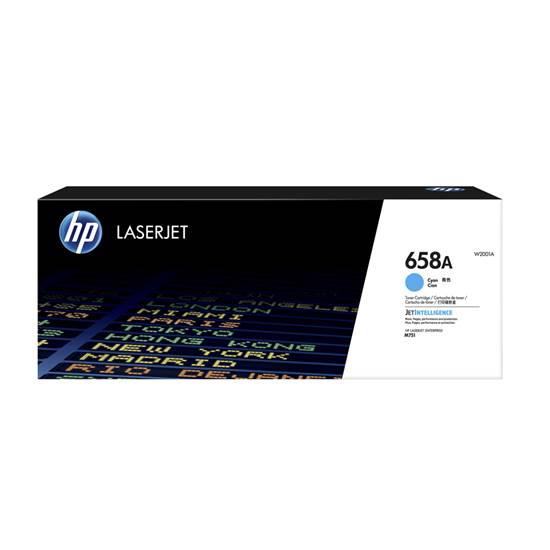 HP 658A Cyan LaserJet Toner Cartridge (6k) (W2001A) (HPW2001A)