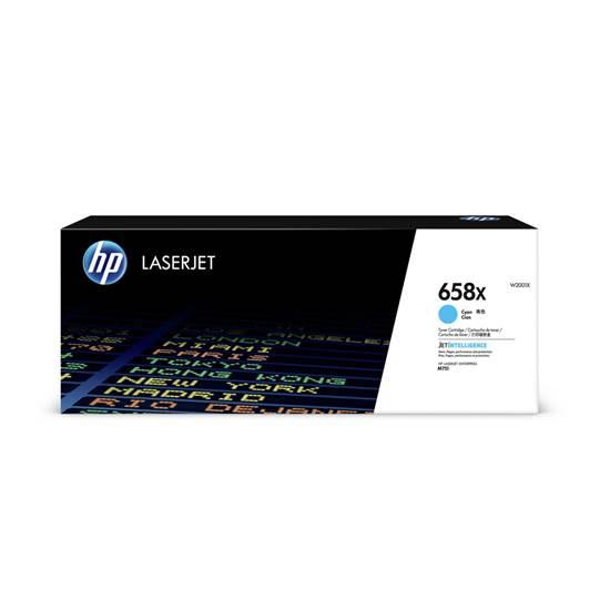 HP 658X Cyan LaserJet Toner Cartridge HC (28k) (W2001X) (HPW2001X)