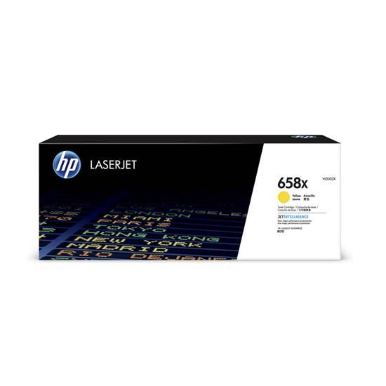 HP 658X Yellow LaserJet Toner Cartridge HC (28k) (W2002X) (HPW2002X)