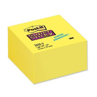 Αυτοκόλλητα Χαρτάκια 3M Post-it 76 x 76 mm Super Sticky (Κίτρινο) (90 Φύλλα) (MMM654-12S)