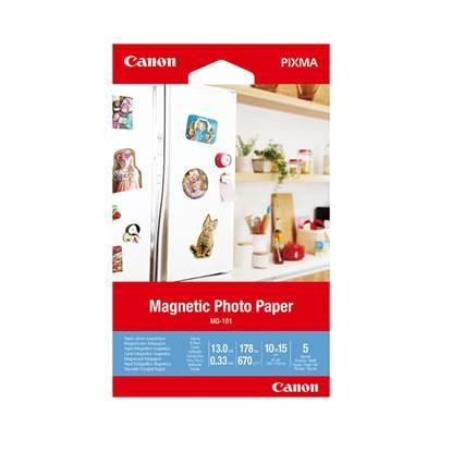 Μαγνητικό Φωτογραφικό Χαρτί Canon MG-101 4x6 (5 sheets) (3634C002AA) (CAN-MG101)