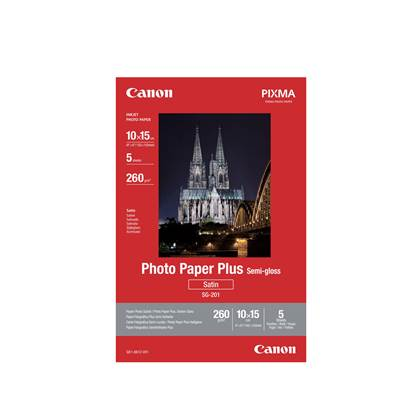 Φωτογραφικό Χαρτί Canon  Semi-Gloss 10x15 (5 φύλλα) (1686B072) (CAN-SG-201)