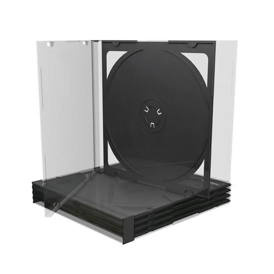 MediaRange CD Jewelcase for 2 discs 10.4mm Black tray (MRBOX23)