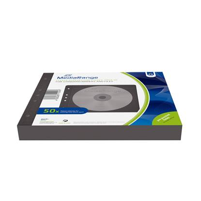 MediaRange Fleece sleeves for 2 discs Black Pack 50 (MRBOX61)
