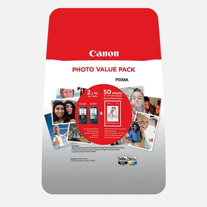 Canon Μελάνι Inkjet PG-560XL/CL-561XL + PHOTO PAPER (3712C004) (CANPG-560VP)