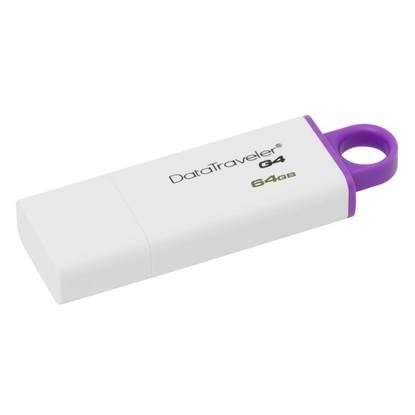 Kingston Data Traveler G4 DTIG4 64GB USB 3.0 (White/Violet)